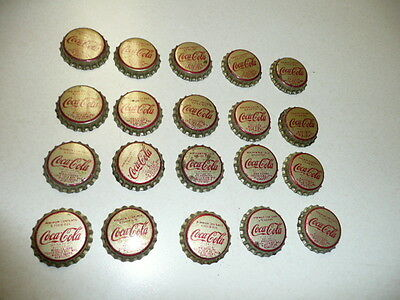 LOT  20  COCA COLA SODA BOTTLE CAP from MIDDLESBORO. KENTUCKY Unused Cork Lining