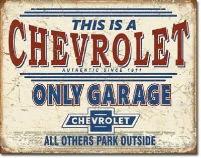 Chevy Only Garage Metal Ad Sign Picture Auto Truck Chevrolet Man Cave Decor Gift