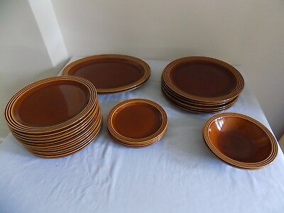VINTAGE 1970s HORNSEA HEIRLOOM POTTERY 26 PIECES  AUTUMN BROWN ALL EXCELLENT