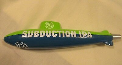 Subduction IPA Beer Tap Handle Rare Figural Submarine, Outer Light , Groton, Ct.