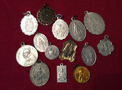 Lot Of 14 Vintage Religious Christian Medals