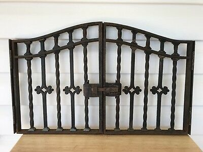 Antique Wrought Iron Window Gate 2 Pc Decorative Iron Architectural Salvage