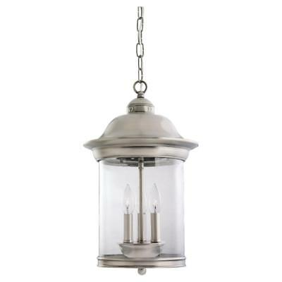 Sea Gull 60081-965 Hermitage Outdoor Hanging Light, Antique Brushed Nickel