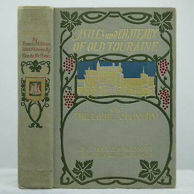 1906 Blanche Mcmanus Signed-Binding Illustrated Medieval Gothic French Castles