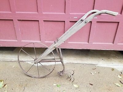 Antique Planet Jr. No. 119 with 5 Prong Weeder / Cultivator Garden Plow 1919yr