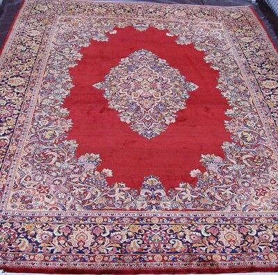 "10'3"" X 14'  Premium Quality Antique Sarouk Hand Made 100% Wool Oriental Rug"