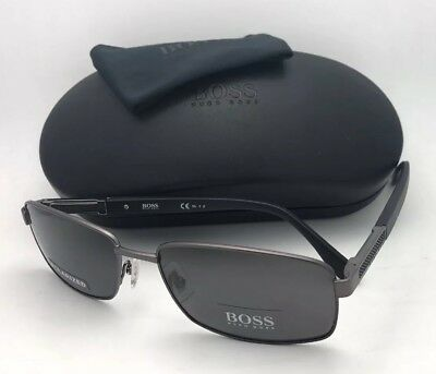 c324998bab Polarized HUGO BOSS Sunglasses 0706 P S LN4M9 Ruthenium   Black w  Grey