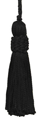 "Black 3"" Chainette Tassels 2"" Loop [Set of 10]"