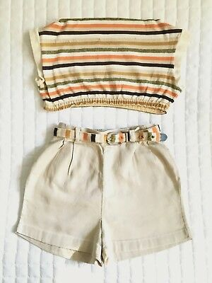 1950's Vintage Little Girl's Shorts and Crop Top Set