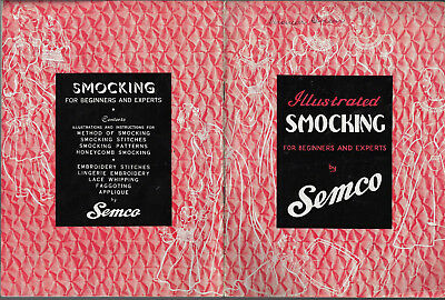 Illustrated Smocking for Beginners & Experts Semco vintage pattern sewing