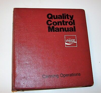 Coca-Cola  Caning Operatioon Manual isued in 1980