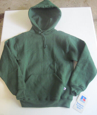 1990's Russell Athletic Sweatshirt Hoodie Youth Large Green New With Tags