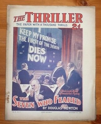 THE THRILLER No 41 Vol 1 16TH NOV 1929 THE SEVEN WHO FEARED BY DOUGLAS NEWTON