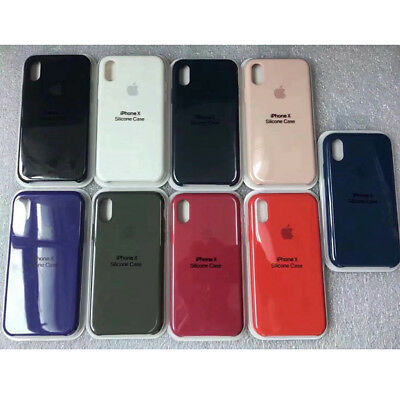 Genuine Original Silicone Case Cover For Apple iPhone XS Max XR 8 7 Plus