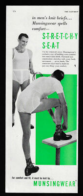 1951 Vintage Print Ad 50's MUNSINGWEAR men's fashion image underwear fashion