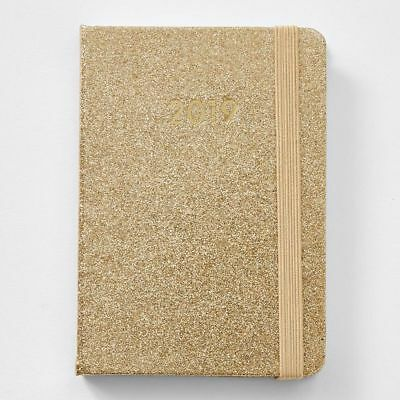 NEW A6 Hardcover 2019 Diary - Gold Glitter