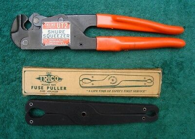 THOMAS & BETTS CO. No. UT2 Shure Squeezer Crimping Tool + a TRICO Fuse Puller