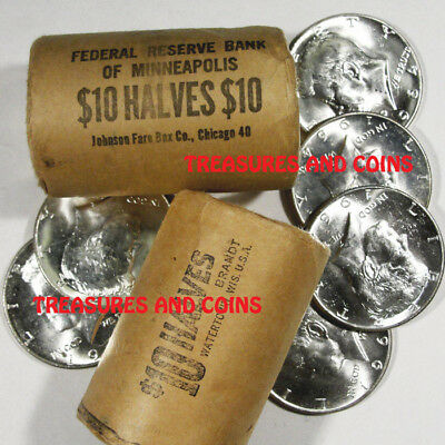 Bu 1964 Kennedy Half Dollar From Unopened Bank Rolls-Estate Coins Hoard Treasure
