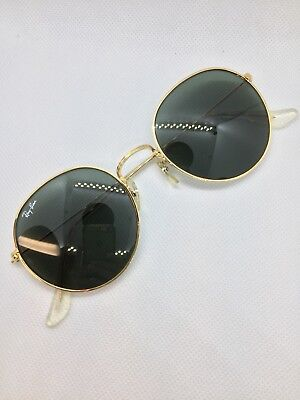 600122ab30 Vintage Ray Ban Bausch and Lomb W0607 Round Metal Arista G15 52mm Sunglasses  USA