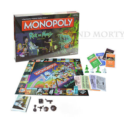 New Board Games Rick and Morty Cartoon Monopoly for Family Kids Gifts Collection
