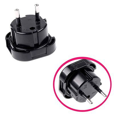 Travel UK GB to EU Euro Plug AC Power Charger Adapter Converter Socket Black