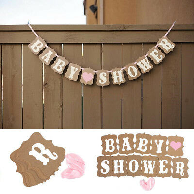 Baby Shower Banner Personalized boy girl pink/blue lilac decorations bunting IN9