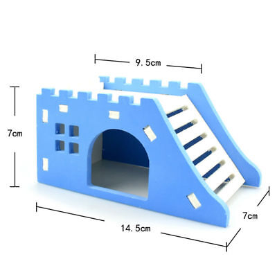 Pet Wood Castle Toy Mini Hamster House Bed Cage Nest For Small Animal Pet Toy