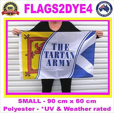 Tartan army flag Scotland Scottish flag includes AUSTRALIA POST TRACKING