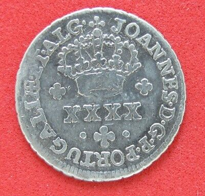 Portugal1799-1816 No Date Silver Coin 50 Reis  Rare  Low Mintage 1266