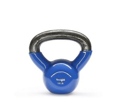 (10.0 pounds) - Yes4All Vinyl Coated Kettlebells – Weight Available: 5, 10,