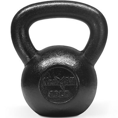 (50.0 pounds) - Yes4All Solid Cast Iron Kettlebells – Weight Available: 5, 10,