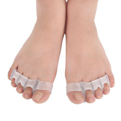 1 Pair Silicone Toe Separator Gel Spreader Correction Pain Relief Hallux Valgus