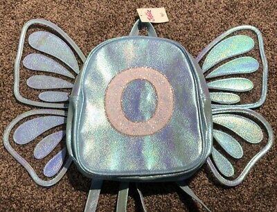 """🦋 Justice Girl's Butterfly Initial """"O"""" Mini Backpack 🦋"""