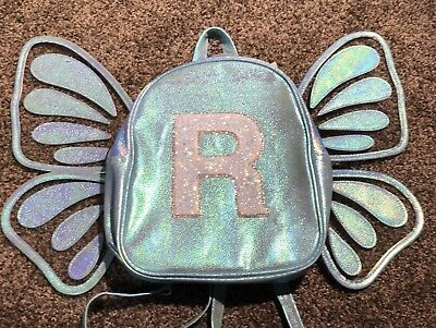 """🦋 Justice Girl's Butterfly Initial """"R"""" Mini Backpack 🦋"""