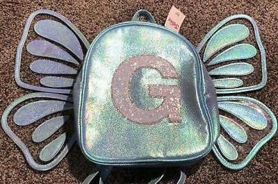 """🦋 Justice Girl's Butterfly Initial """"G"""" Mini Backpack 🦋"""