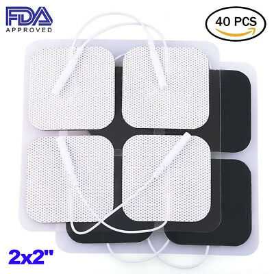 40x Replacement Pads for Massagers / Tens Units electrode 2 x 2'' White Cloth
