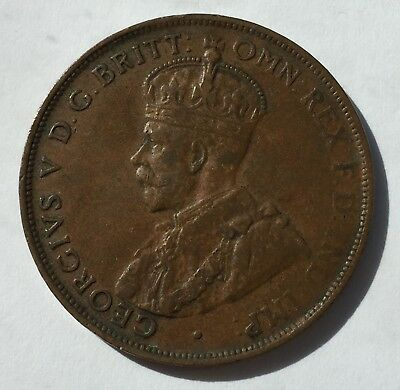 1925 Australia Penny 1D fine+ Scarce coin - better grade for this year 'Gracie'