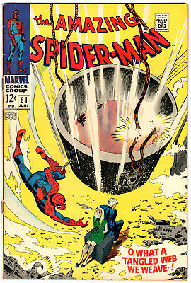 Amazing Spider-Man #61 1968 FN+ 1st Gwen Stacy Cover App Silver Age Marvel Comic