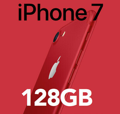LIKE NEW Apple iPhone 7 (PRODUCT) RED  128GB Unlocked Smartphone
