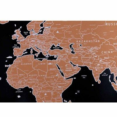 Travel Tracker Scratch Off World Map Poster with Country Flags Scratch Map IN9X