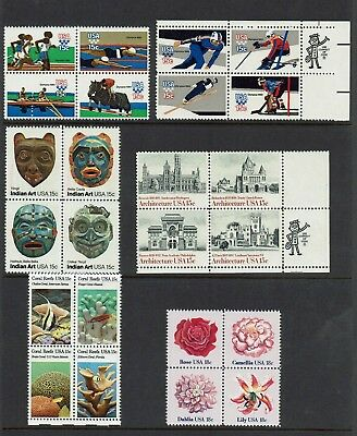 Usa .1979 / 80 Olympic Sports , 1980 Masks , 1980 Arch , 1981 Flower...mh / Muh