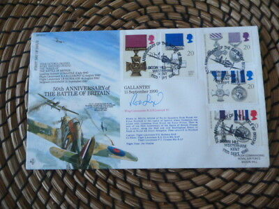 50th Anniversary of Battle of Britain Signed  R.A.B.Learoyd Victoria Cross  fdc