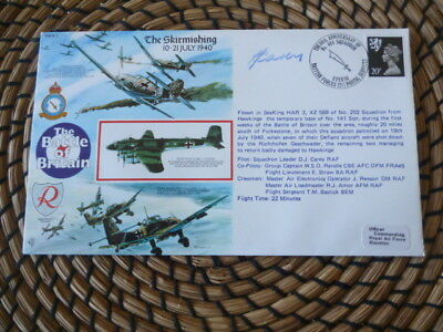 Battle of Britain  50th Anniversary 1990 The Skirmishing    Signed   fdc
