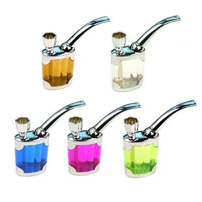 Portable Mini Water Smoke Pipe Hookah Bong Smoking Tobacco Glass Bubbler Gift AU