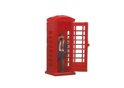 Peco 5005 Telephone Box with figure - Some assembly and paint Req.  OO HO SCALE