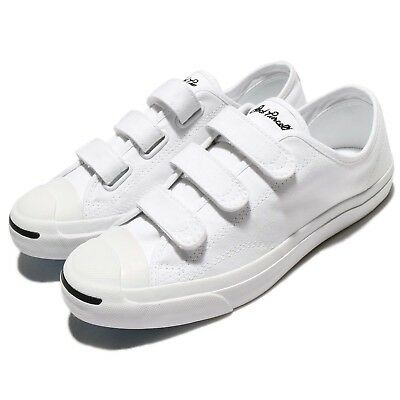 83b8d788141 Converse Jack Purcell 3V Canvas White Men Women Shoes Sneakers Trainers  160238C
