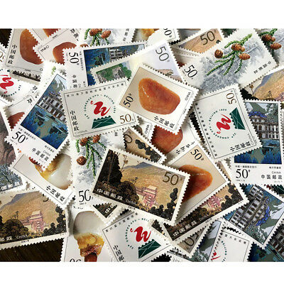 1Pc Random Send China Value Stamp Collection Old Stamps Paper DIY Gifts Supplies