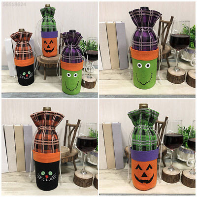 6896 Lovely Wine Bottle Bag Non-Woven Fabric Halloween Drawstring Bar Wine Bag