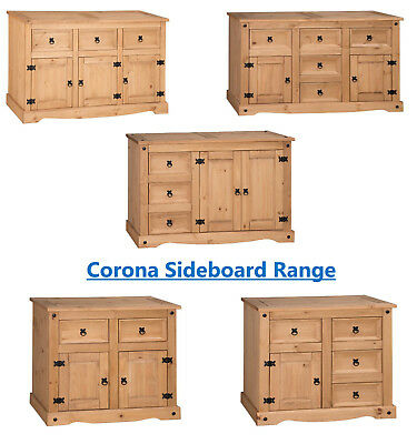 Corona Sideboard Large Small Low 1 2 3 4 5 Door Drawer Mexican Solid Pine