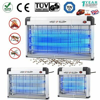 Electric UV Fly Insect Killer Mosquito Pest Bug Zapper Catcher Trap LED Light UK